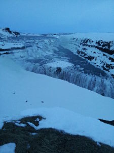 PART of Gullfoss Waterfall - I couldn't get it all in!