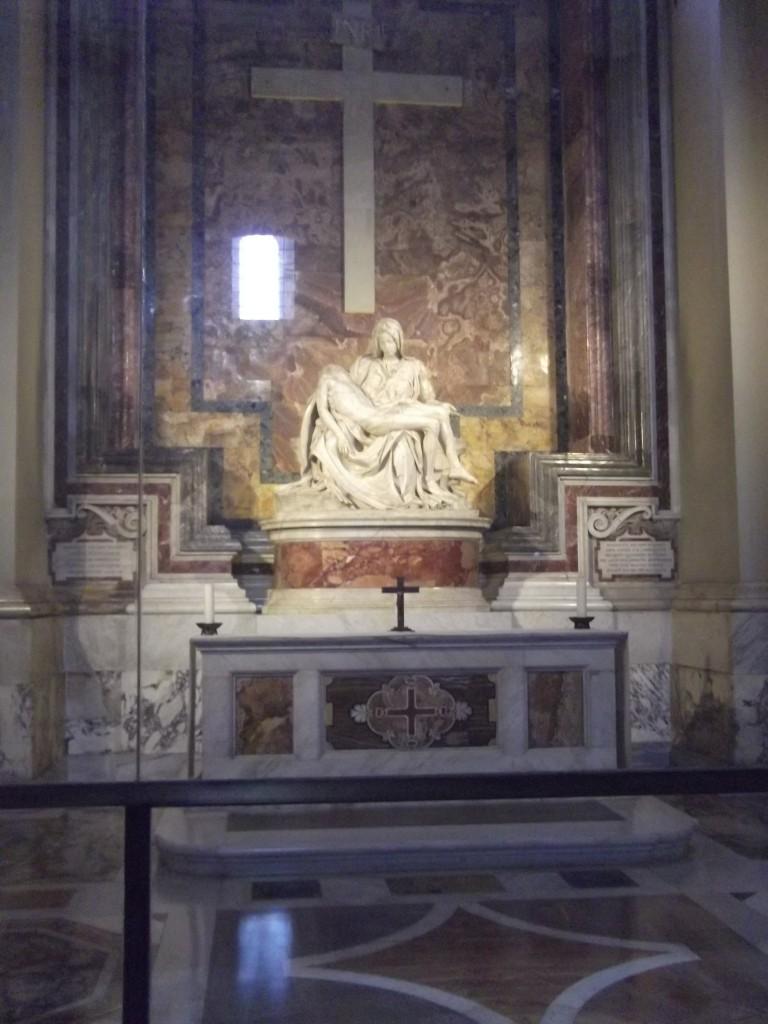 Michelangelo's hauntingly beautiful La Pieta
