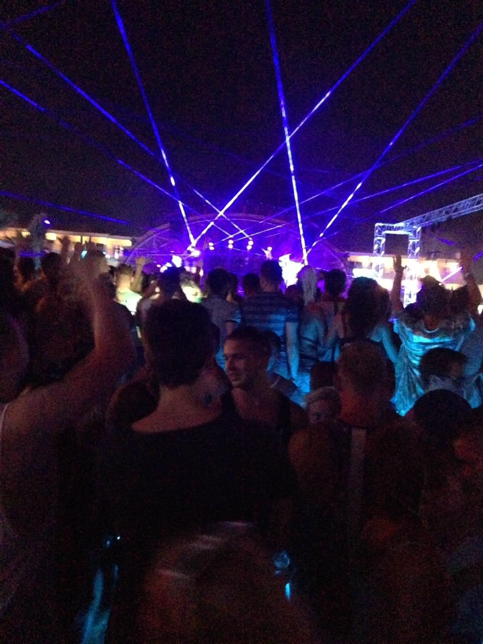 Partying in Ibiza